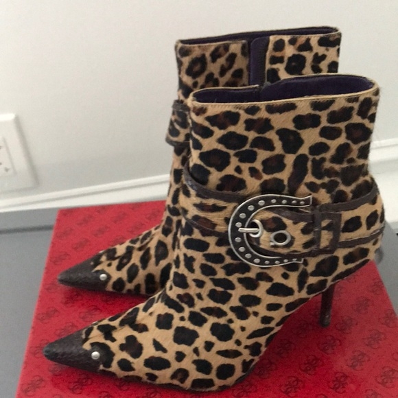Guess Shoes | Leopard Boots | Poshmark